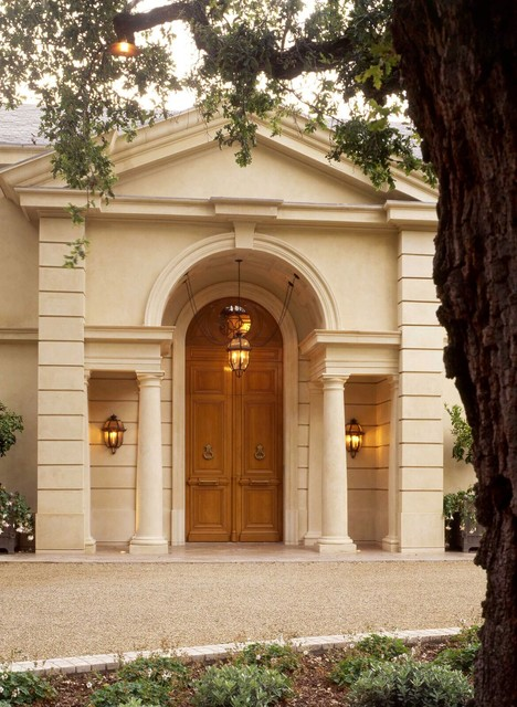 A french country house mediterranean entry san for French country architects