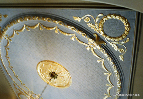 A Gilded and Painted Ceiling traditional entry