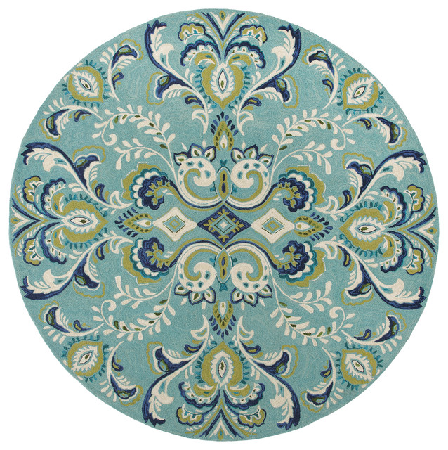 adele lake round  modern  entry  boston  by company c, 6' round teal rug, dark teal round rug, ikea teal round rug