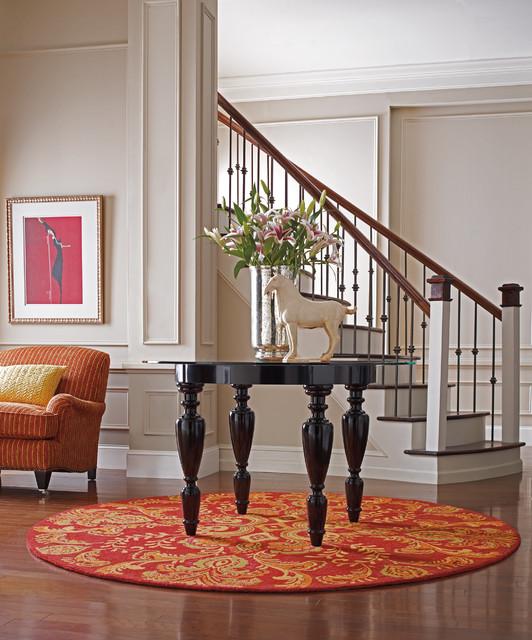 Houzz Foyer Rug : Adele poppy round entry rug modern boston by