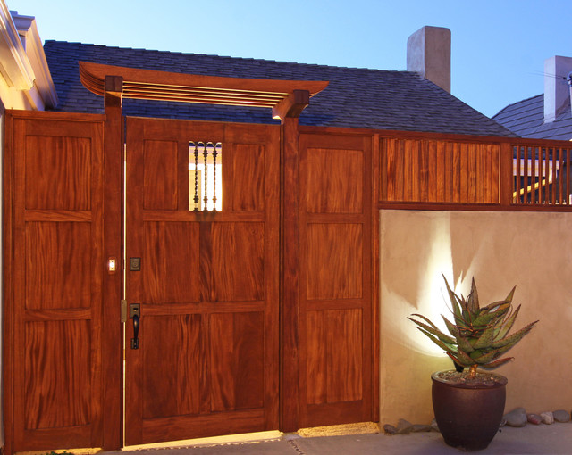 African Mahogany Entryway In Dana Point Asian Entry
