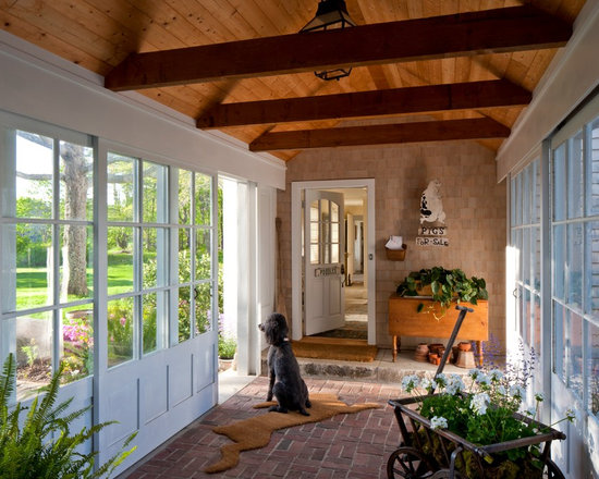 Mudroom breezeway home design ideas pictures remodel and for Breezeway flooring ideas