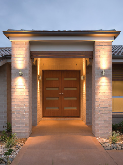 How to replace old exterior wall light fixtures with led for Front entrance light fixtures