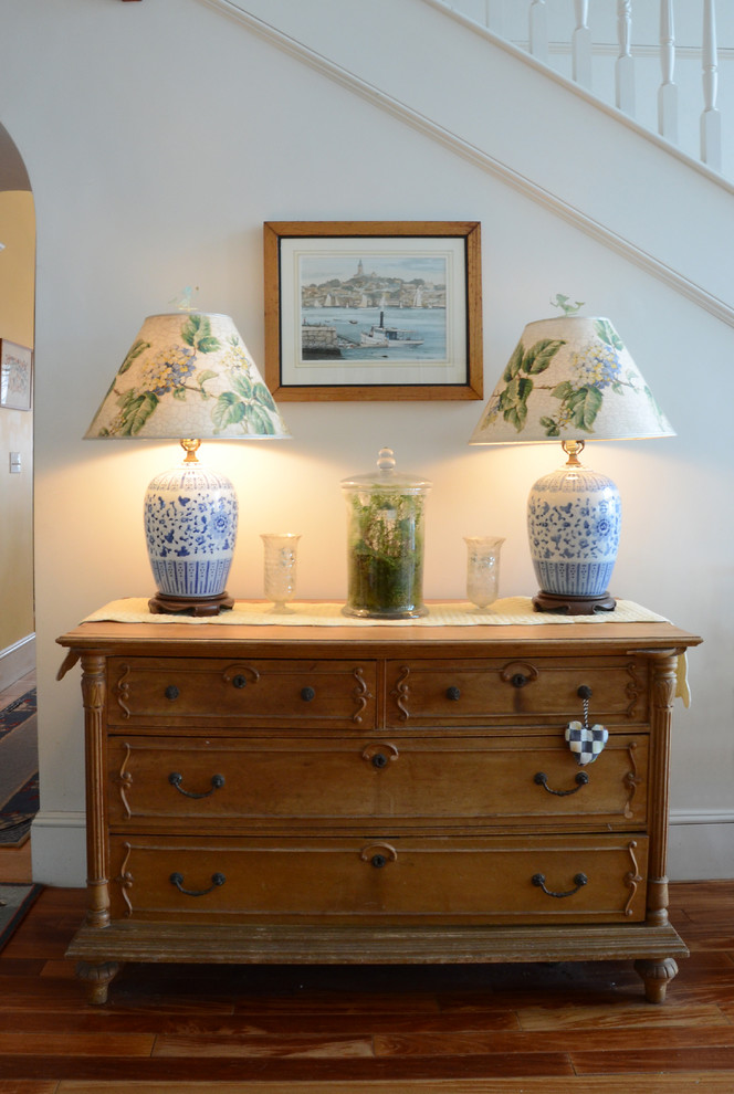 Inspiration for a coastal entryway remodel in Boston
