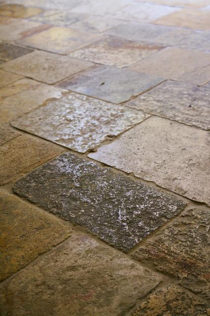 Antique Biblical Flooring mediterranean-entry