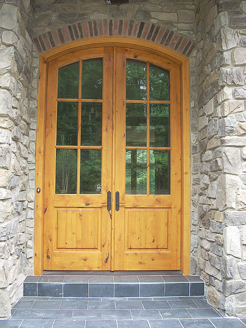 Arch Double Entry Door Solid Wood Knotty Alder Rustic Entry Other By Homestead Doors Inc