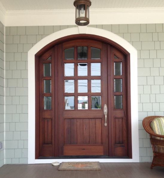 Arch Top Mahogany Doors Traditional Entry Other By