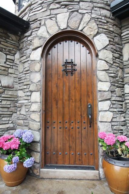 Arched Entry Door Rustic Entry Cleveland By