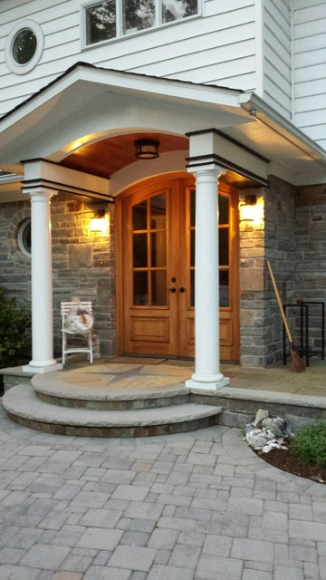Arched Front Entryway Exterior French Doors Contemporary Entry Other By M4l Inc