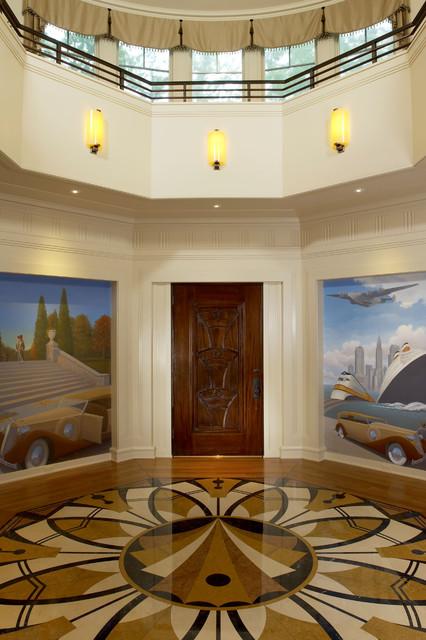 Art Deco Foyer : Art deco designed foyer traditional entry dc metro