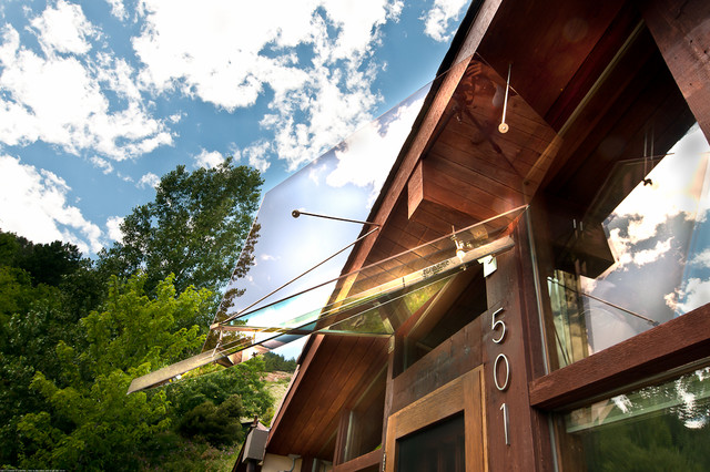 Art Glass Awning for Mid Century Modern Ranch House ...