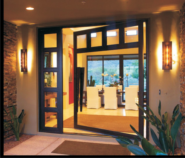 Arts Amp Craft Pivot Entry Door Contemporary Entry