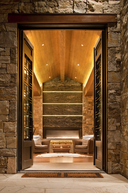 Foyer Architecture Questions : Aspen foyer contemporary entry denver by