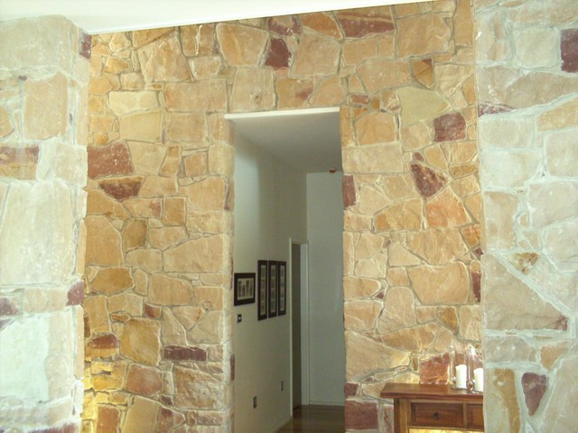 Australian Sandstone Feature Walls Traditional Entry