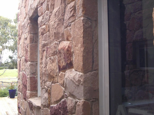 Australian Sandstone Feature Walls traditional-entry