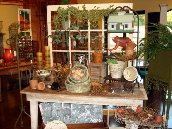 Autumn Decor in the Iron Accents Showroom eclectic-entry