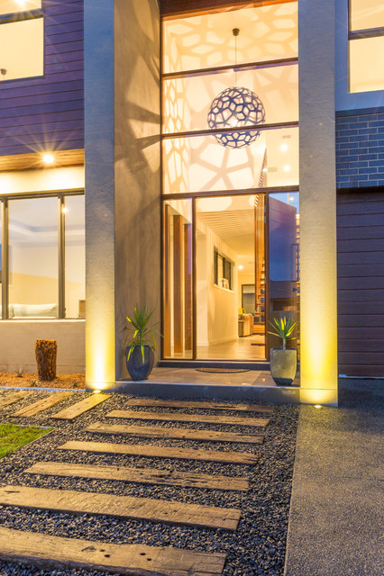 Award winning home contemporary entry canberra for Award winning contemporary homes