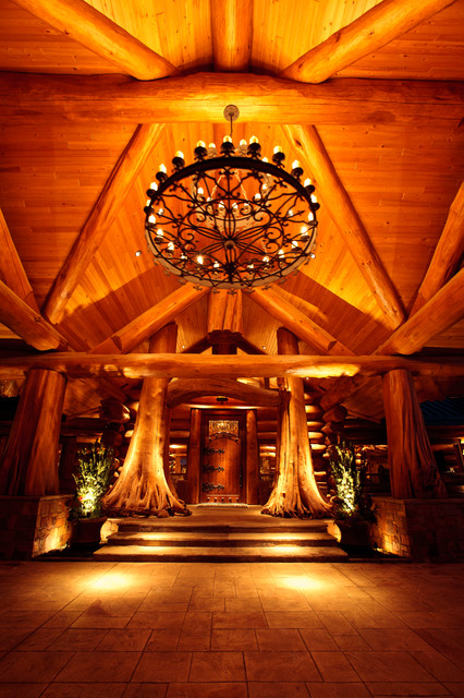 awesome log cabin rustic entry dallas by passion