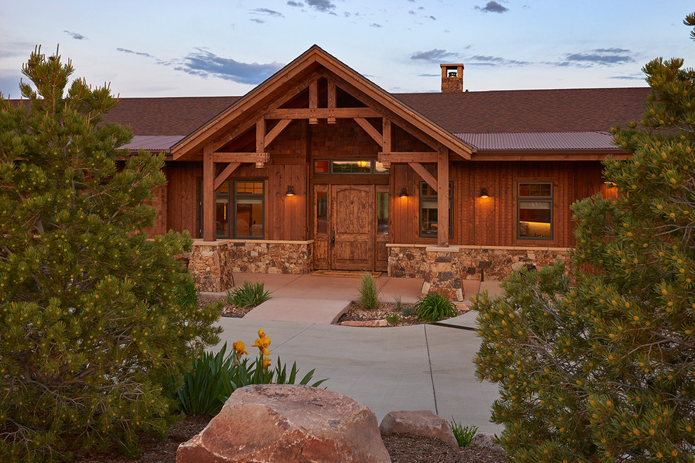 Back Porch Ranch - Rustic - Entry - Denver - by ... on Back Deck Ideas For Ranch Style Homes id=50534