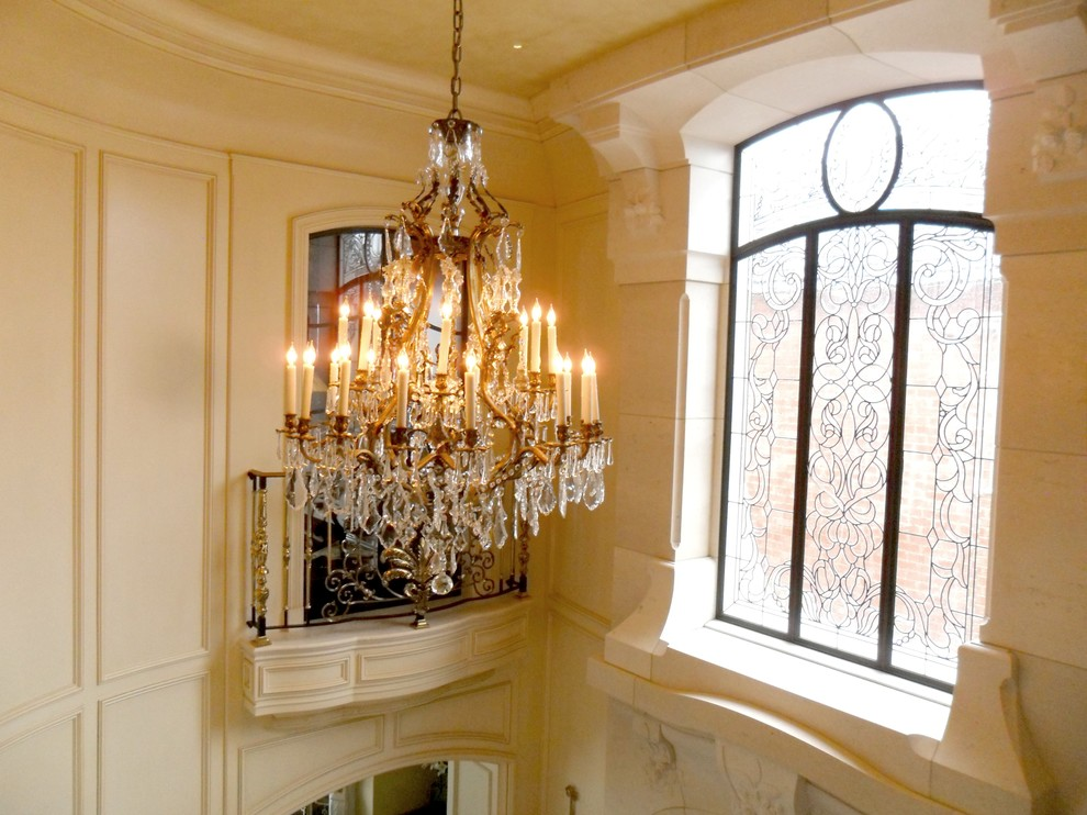 Balboa Island French Foyer Traditional Entry Orange County By Palmer Interior Design