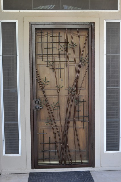 Bamboo Security Door Contemporary Entry Phoenix By
