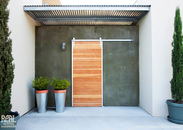 Barn Door Installations Contemporary Entry Seattle By Real