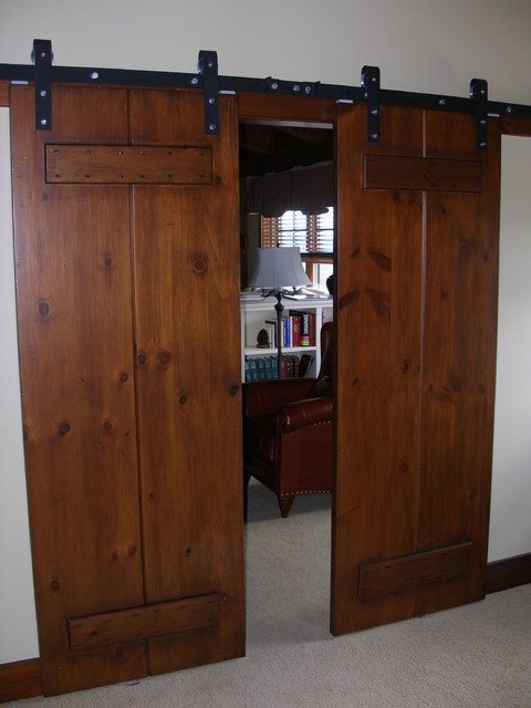 Beautiful Barn Style Sliding Door Farmhouse Entry