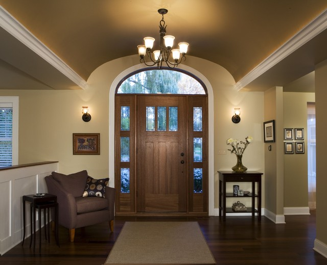 Barrel vault foyer renovation contemporary entry