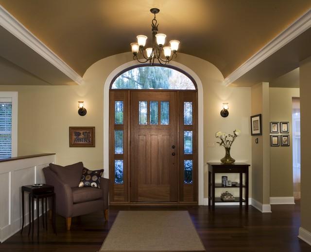 Vaulted Ceiling Foyer Light : Barrel vault foyer renovation contemporary entry