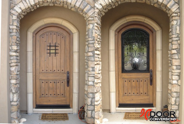 Before After Wrought Iron Insert Mediterranean Entry San Franci