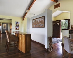 Belize Residence: Foyer, Bar, Kitchen tropical-entry