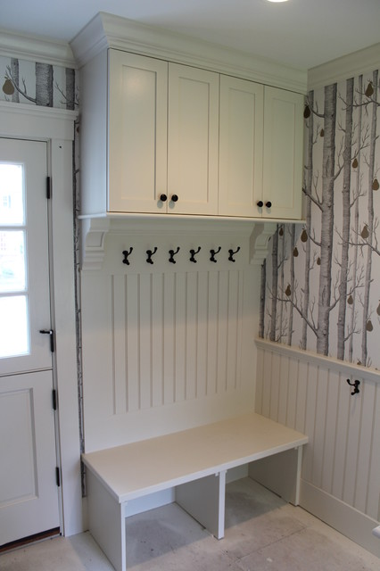 bench seats, lockers, cubbies Mudroom - Traditional - Entry - Boston - by Custom Home Finish