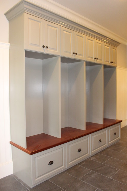 Bench Seats Lockers Cubbies Mudroom Traditional Entry Boston By Custom Home Finish