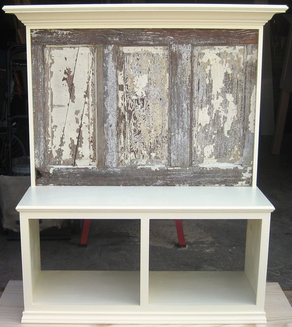 Bench Seats Made Using Old Doors Eclectic Entry