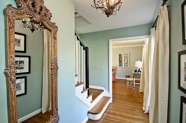 Benjamin Moore Wythe Blue Foyer traditional entry