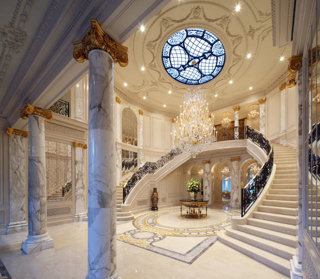 Mansion Foyer Designs : Beverly hills traditional style mansion