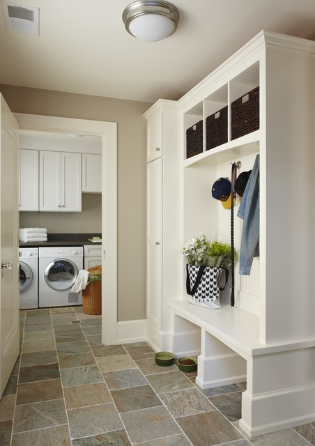 Birmingham mud/laundry room, MI - traditional - laundry room