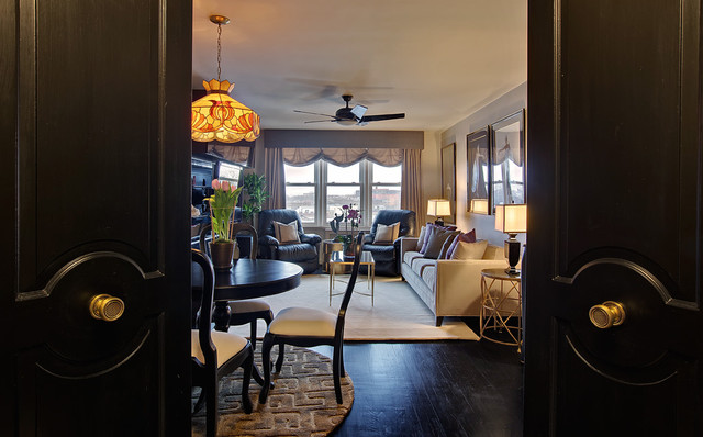 Black & Gold Residence eclectic-entry