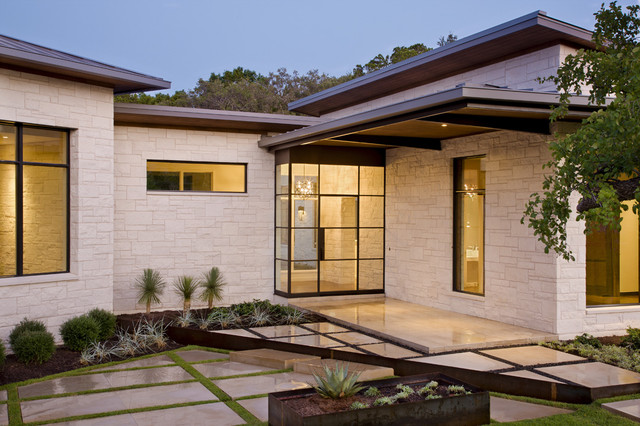 Blanco House Contemporary Entry Austin By Larue