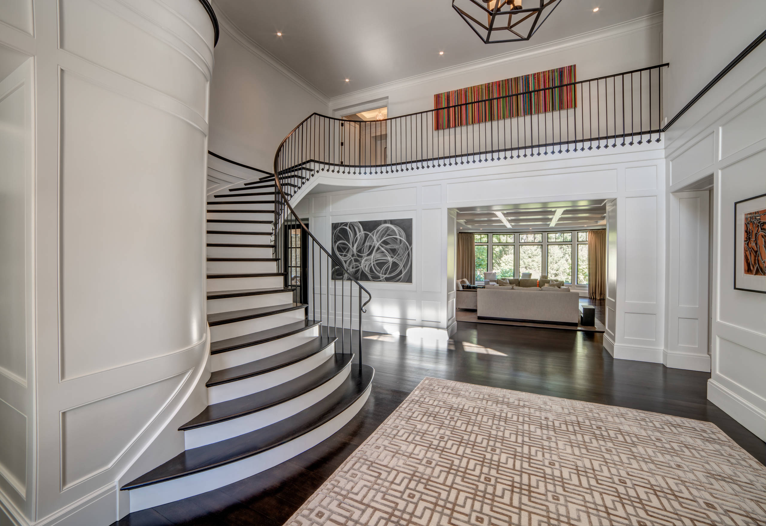 Bloomfield Hills Foyer and Staircase