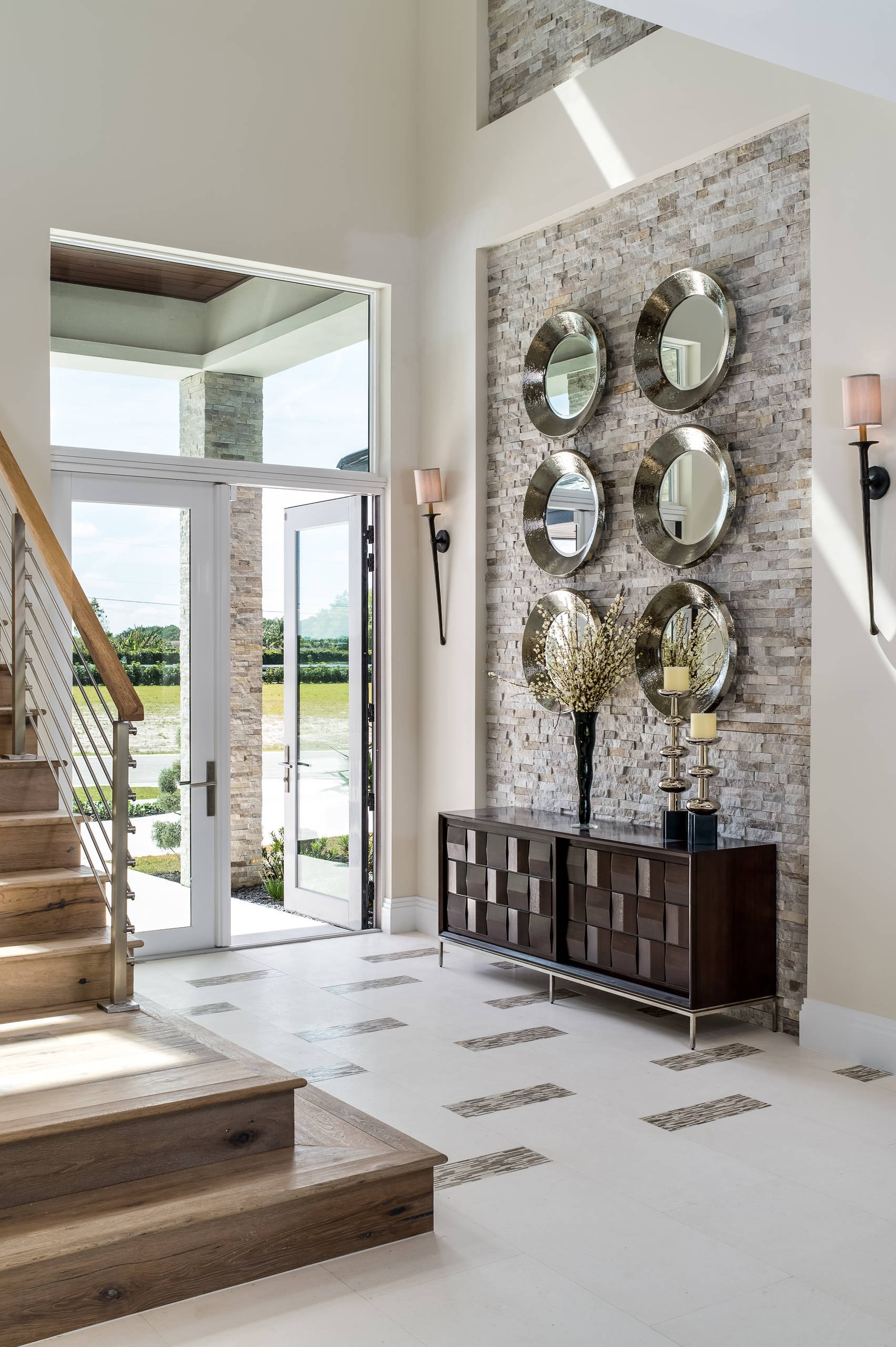 75 Beautiful Entryway With A Glass Front Door Pictures Ideas December 2020 Houzz