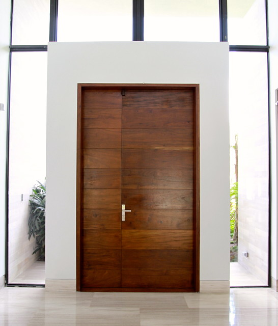 Borano modern doors contemporary entry miami by borano for Modern wooden main door design