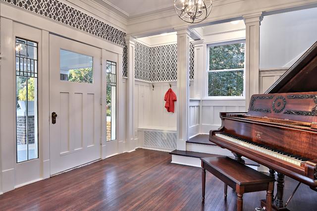 Houzz Foyer Wallpaper : Brady house traditional entry austin by avenue b