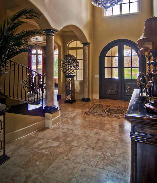 BrentwoodTN Front Entry Hall Mediterranean