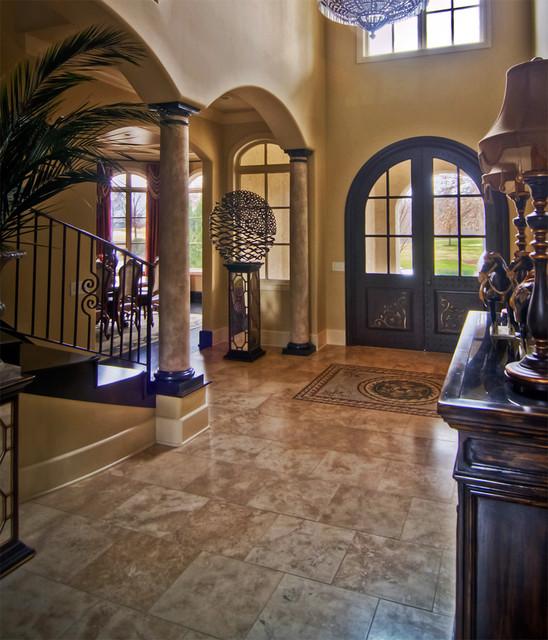 Mediterranean Foyer Decor : Brentwood tn front entry hall mediterranean