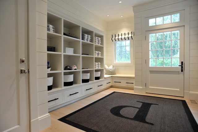 Built In Shelving Custom Furniture Beach Style Entry New York By East End Country Kitchens
