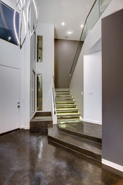 Burgundy Way Contemporary Entry Albuquerque By