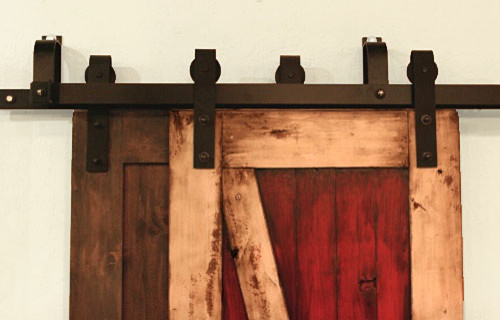 Bypass Barn Door Hardware System contemporary-entry