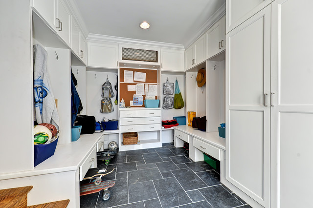 Byrnes Garage To Mudroom Conversion Contemporary Entry
