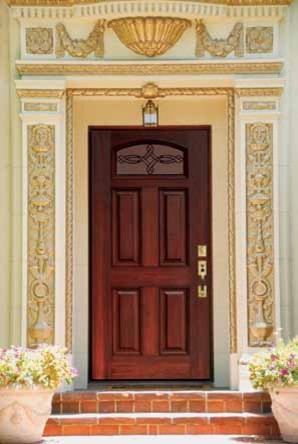 camber lite marsais fiberglass single door tall 80 traditional entry - Single Exterior Doors